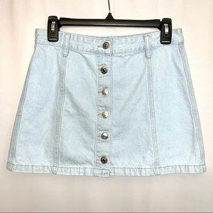 Forever 21 Women's Blue Jean Skirt Size 28